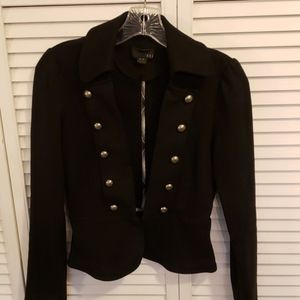 Black military style jacket by Forever 21